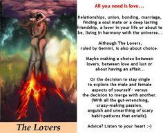 THE LOVERS http://tarotromance.com/ #tarotcardmeaning
