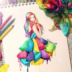 Kristina Webb is an artist from New Zealand who creates incredible three-dimensional drawings using everyday objects. Her drawing skills are Kristina Webb Drawings, Kristina Webb Art, Fashion Illustration Sketches, Fashion Sketchbook, Art Sketches, Art Illustrations, 3d Drawings, Colorful Drawings, Pencil Drawings