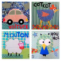 fun patterns with shapes, scrapbook paper...and whatever the animal says (moo, bahh, etc.)