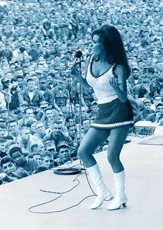 Christmas, 1967 — Raquel Welch, part of the Bob Hope Christmas Show, entertains the troops in Da-Nang, Vietnam