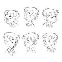 Nino character expression sheet by Borja Montoro