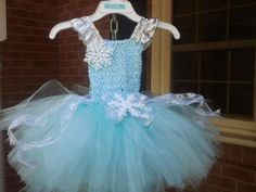 Snowflake tutu dress by WindmillsandBubbles on Etsy, $20.00