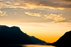 Sun setting over the fjord