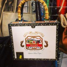 Repurposed cigar box purse