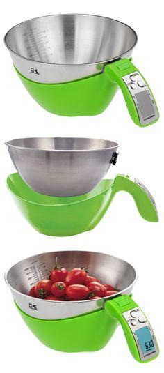Kalorik iSense Scale // it's a 2-in-1 mixing and measuring bowl... genius! #kitchen #gadget