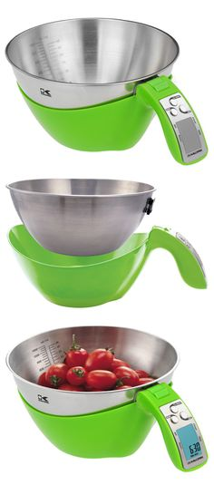 Kalorik iSense Scale // it's a 2-in-1 mixing and measuring bowl... genius! #kitchen #gadget