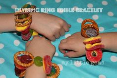 My Little Gems: Olympic Ring Edible Bracelet {Crafting with Kids}