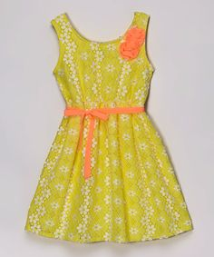 Look what I found on #zulily! Sun Yellow Abbey-Ann Dress - Girls by Pogo Club #zulilyfinds