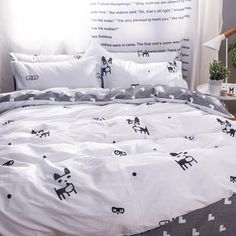 Cartoon Bedding Sets Lovely Dogs Printed Cotton King Queen Twin Size Comfortable and Cute Children Favorite for All Seasons Pet Store, Dog Design, Home Textile, Duvet Cover Sets, Cute Kids, Bedding Sets, Comforters, Dog Lovers, Textiles