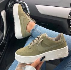 new products 8b545 5cfaa Nike Air Force 1 Sage Nike Air Force 1 Sage Low COLOR  Olive FIT  True to  size US Womens Sizes please see size chart Select from two options  Outside  Logos ...