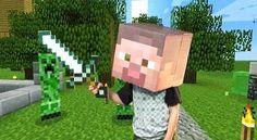 Ideas y material gratis para fiestas y celebraciones Oh My Fiesta!: Máscaras de Minecraft para Imprimir Gratis.
