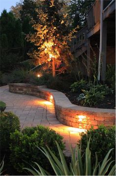 Light the path to your front door to guide visitors in the evening hours.
