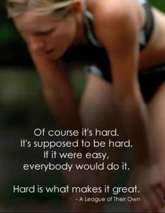 Of course its hard! check out dieting digest citation motivation sport, running motivation, Citation Motivation Sport, Fitness Motivation, Running Motivation, Fitness Quotes, Workout Quotes, Exercise Motivation, Motivation Quotes, Exercise Quotes, Daily Motivation