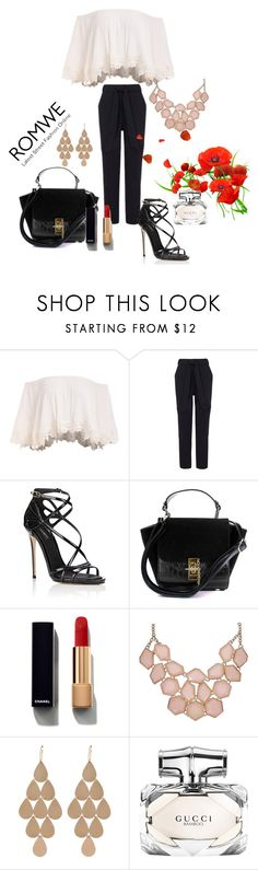 """""""Romwe / top"""" by fatmafatma123 ❤ liked on Polyvore featuring Dolce&Gabbana, Chanel, Irene Neuwirth and Gucci"""