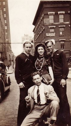 Sailors and Civilians, New Haven, CT, 1940s by boobob92, via Flickr