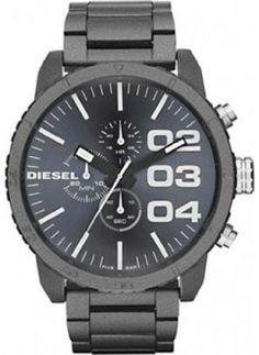 Relógio Diesel Chronograph Spray Coated Steel Grey Dial Men's Watch DZ4269 #Relogios #Diesel