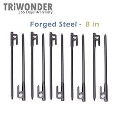 Triwonder 10 Pack Burly Forged Steel Tent Stakes Solid Stakes Footprint Casting Pegs *** Find out more details by clicking the image : Camping Tents Camping And Hiking, Tent Camping, Camping Gear, Tent Stakes, Tent Accessories, Tent Pegs, Forged Steel, Footprint, Letting Go