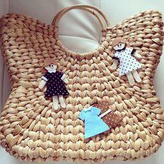 Eceng Gondok Bag with Handicrafts Doll Ornaments