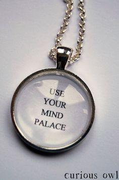 Use Your Mind Palace -  SHERLOCK SERIES 3 - Sherlock Fandom Necklace (Curious Owl) on Etsy, $16.81