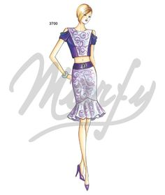 Our Patterns :: Marfy Collection 2015/2016 :: Sewing Pattern 3651 -
