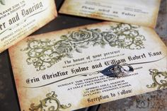 With so many styles of wedding invitations out there, don't settle for less than AWESOME!  (And don't you LOVE this vintage style invitation!?!)