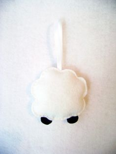 Sherman the Sheep Felt Holiday Tree Ornament by RedMarionette