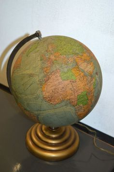 globe terrestre Mappemonde en verre Lumineux PERRINA