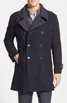 Adding this Cole Haan wool blend coat to the fall wardrobe.