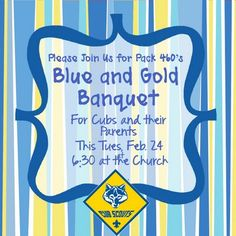 cub scout blue and gold program template - blue and gold banquet invitation awesome fun and