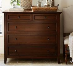 Hudson Dresser | Pottery Barn Beautiful, Dove Tailed, Clean Lined Mahogany  Dresser.