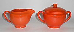 Metlox Pottery Poppy Trail Series 200 Orange Creamer/su