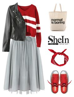 """Untitled #794"" by intellectual-blackness ❤ liked on Polyvore featuring Converse, Dogeared and shein"