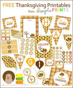 Free Thanksgiving printables.
