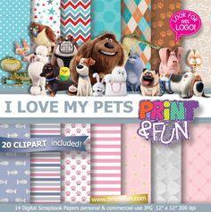 #pets #thesecretlifeofpets #mascotas #max #gidget #duke #animals #dogs #cats #printables http://www.printnfun.com/store/p168/The_secret_life_of_pets,_La_vida_secreta_de_las_mascotas_Digital_Paper_for_Scrapbooking_Party_Printables_Backgrounds_Fondos.html