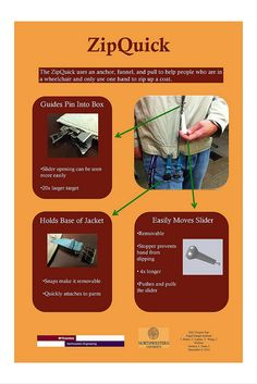 Some of the ideas on this site could possibly be diy for less $. 05-1 One-handed Coat Zipper | Flickr - Photo Sharing!