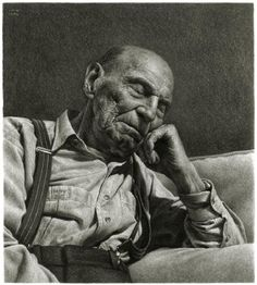 """Beautiful charcoal on paper drawing by Ira Korman titled """"Rest"""" - Tonal"""