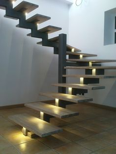 41 Chic Indoor Home Stairs Design Ideas For Your Home Staircase Design Modern, Stair Railing Design, Home Stairs Design, Modern Stairs, House Design, Stair Treads, Outdoor Stairs, Deck Stairs, House Stairs