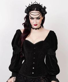 VG-19509 - Gothic Overbust Corset with Attached Sleeve