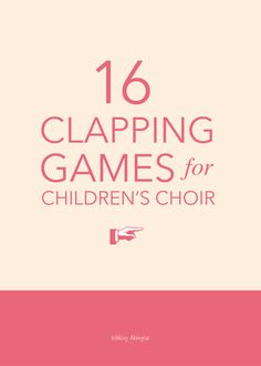 Hands: 16 Clapping Games for Children's Choir 16 fun hand-clapping games for children's choir - great for a gathering activity or quick change-of-pace in the middle of rehearsal! Movement Activities, Music Activities, Music Games For Kids, Hand Games For Kids, Games For Children, Physical Activities, Elementary Choir, Elementary Music Lessons, Middle School Choir