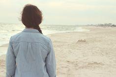 Beach, Ocean, Sand, Girl, Alone, Walking, Back, Photography