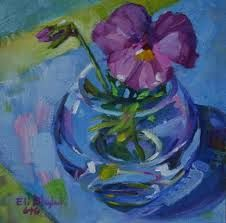 Painting of flowers in glass vase - Google-søgning