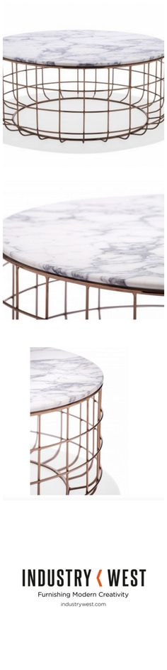 The St. Clair Collection is the newest addition to our catalogue, and an exploration into elegance fused with relatable design. We offer all of the items in the St. Clair collection with rose gold and black wire bases interchangeable with walnut and ivory marble tops.