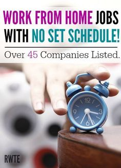 Do you need to find a work from home job that lets you work whenever you want? Here is a list of more than 45 legitimate companies that offer work from home jobs that are very, very flexible in nature. work from home jobs, working from home Work From Home Opportunities, Work From Home Jobs, Make Money From Home, Way To Make Money, Money Fast, Mo Money, Money Tips, Money Hacks, Career Opportunities