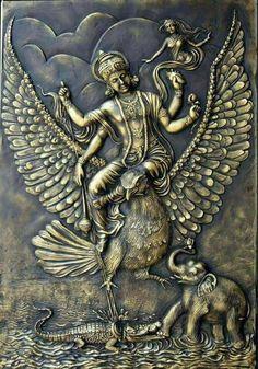 Shiva Art, Krishna Art, Hindu Art, Mural Wall Art, Mural Painting, Murals, Lord Rama Images, Krishna Statue, Kali Statue