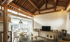 OEU-ChaO Architects have worked absolute magic on a tiny 300-square-foot home in Bejing, transforming the dark and dingy space into a welcoming family home.
