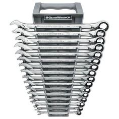 GearWrench Metric XL Ratcheting Wrench Set (16-Piece)