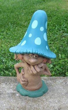 mushroom garden gnome!