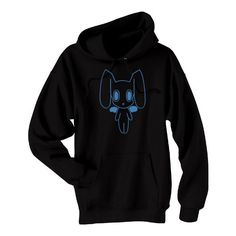 Robot Bunny Hoodie Kawaii Creepy Cute Pastel Goth Anime Decora... ($39) ❤ liked on Polyvore featuring tops, hoodies, black hoodie, pullover sweatshirts, black hoodie sweatshirt, hooded shirt and hooded sweatshirt