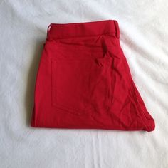 "Coming Soon! NWOT Tahari Skinnies Super comfortable red Tahari skinny pants.         Size 6.    98% cotton, 2% elastane. Very little stretch.                                                                       15"" waist, 29 1/2"" inseam, 8 1/2"" rise. Great to dress up at work or for a casual day on the town. Tahari Pants Skinny"