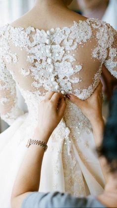View from the back #wedding #dress #lace #back
